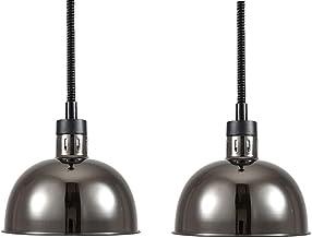 Lampe Chauffante Infrarouge pour Pizza et Steak Lampe de Chauffante des Aliments pour Buffet et Restaurant, Suspension Bar...