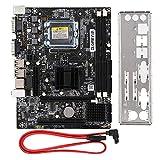 Tangxi Placa Base de computadora de Escritorio, CPU para Intel LGA 775 2 * DDR3 DIMM 1066 / 1333MHz Placa Base de Memoria con 1*gráficos PCI-E×16/4*SATA 2.0/2*USB 2.0/Fuente de alimentación trifásica