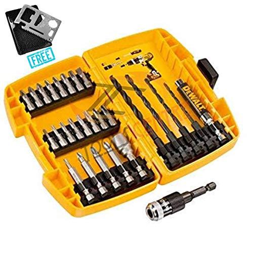 Tools CentreTM Dewalt DT71507-QZ - Juego de perforación y conducción de carga rápida, 27 piezas, con 11 herramientas multiherramienta de bolsillo