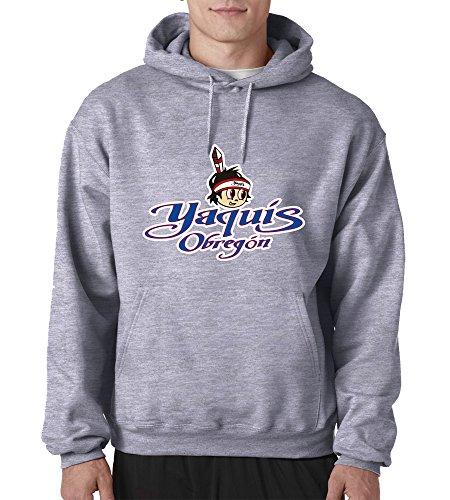 Yaquis de Obregon Baseball for Men's Hoodie Color Gray (4X-Large)