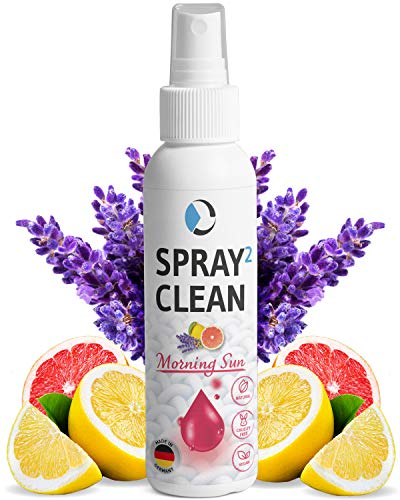 SPRAY2CLEAN Morning Sun spray antiácaros para almohadas   Spray limpiador de tejidos para sofá, cojines, cortinas   Neutralizador de olores con aceites esenciales   100ml