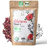 🌺 Flor de Jamaica BIO 200g | Flor de Hibisco por Te Frio, Agua de Jamaica, Infusion | Te de Hibisco organico por Dieta Detox Drenante