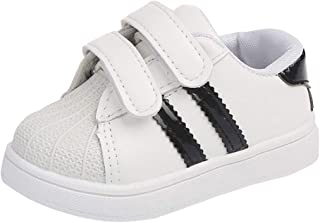 Yangguang Boys and Girls Double Velcro Sneakers with Stripe in Black Colour