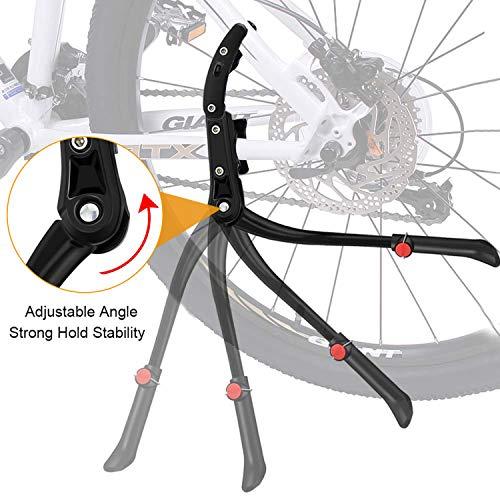 WOTEK Fahrradständer, Seitenständer Fahrrad Universal Aluminiumlegierung Fahrrad Ständer Rutschfester Gummiständer, Mountainbike, Rennrad, Fahrräder und Klapprad, Höhenverstellbar  24-29 Zoll - 5