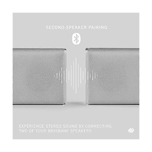 Wireless Speaker, Bluetooth 5.0, 10-Hour Play Time, Splash-Proof, 16w Driver Power, Portable – White 4