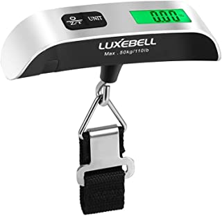Luxebell Digital Travel Luggage Scale 110lbs with Temperature Sensor and Backlight LCD Display (Sliver Pack-1)