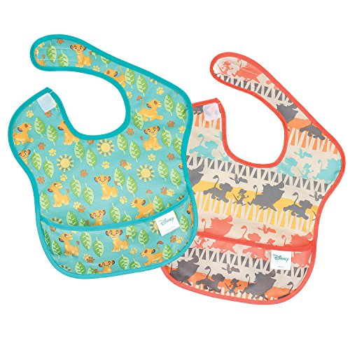 Price comparison product image Bumkins Lion King Simba SuperBib,  Baby Bib,  Waterproof,  Washable,  Stain and Odor Resistant
