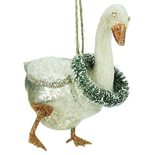 Gisela Graham : Decorazione natalizia : Oca di vetro verniciata