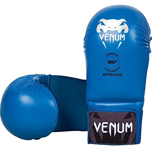 Venum Fäustlinge ohne Daumen Schutz Karate Handschützer, Blau, L