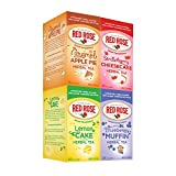 Indulge in a slice of decadence minus the calories with this delectable ZERO calorie treat, bursting with the tastes of your favorite bakery treats! Lightly sweetened with Stevia. 18 individually wrapped tea bags of each flavor