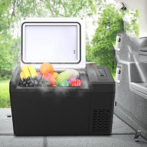 WZRY Frigorifero, Mini Frigo per Auto da 22 Litri, Piccolo Congelatore, Compressore Portatile 12V   220V per Auto E Uso Domestico