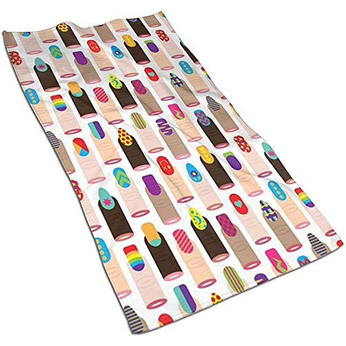 Snbin Toallas de Mano de Microfibra de uñas de Moda Japonesa Toallas Toallas de Secado rápido Toallas Deportivas (40x70cm)