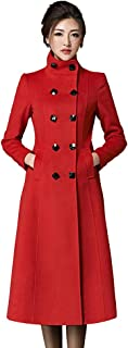 Best long red wool coat Reviews