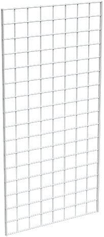 Grid Panel for Retail Display – Perfect Metal Grid for Any Retail Display, 2' Width x 4' Height, 3 Grids Per Carton (...