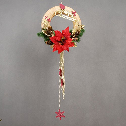 Great Price! LAOHAO Christmas Decoration 30cm Pull Wreath Ring Wreath Ring Set High-end Christmas Ri...
