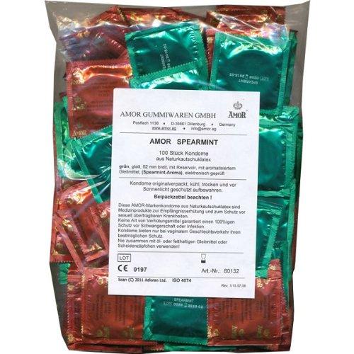 Amor Spearmint: 100 grüne Kondome mit Minz-Aroma, prickelnd und erfrischend