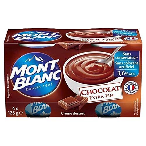 Mont Blanc Crème Dessert Chocolat (lot de 4)