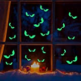 YYSticker Halloween Boutique Fenêtre Autocollant Simulation Stéréo Nuit Bat Démon...