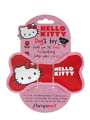 CROCI Hello Kitty Corde en Oxford Coton pour Chien 14 x 7 x 3 cm Taille S