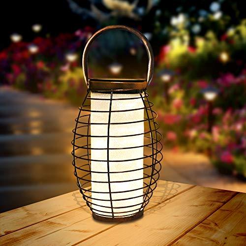 Farol Solar para Exteriores Linterna LED Solar Luces de mesa solares para jardín, al aire libre, patio, césped, pasillo,Decoracion Fiesta 1 Pack