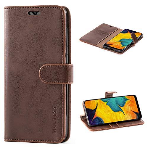 Mulbess Funda para Samsung A30, Funda A20, Funda Cartera Samsung Galaxy A30,...