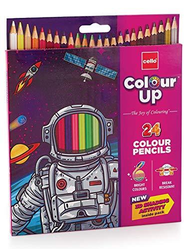 Cello Pens ColourUp Colour Pencils - 10 packs (24 shades each) - Return Gift Box