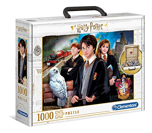 Clementoni- PZL 1000 IN VALIGETTA Harry Potter Puzzle Adulto, Multicolor (61882)