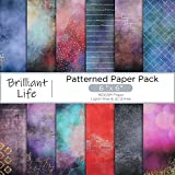 YARUMI Scrapbook Paper 6'×6',Single-Sided Scrapbook Paper Pad,24 Sheets Cardstock Paper Scrapbooking Supplies-Brilliant Life-Holiday Pattern Paper Pack Cardmaking Photo Frame Background Origami Paper