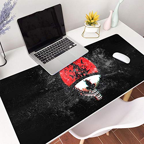 Tonjaberg Stitched Edge Mouse pad/Naruto Itachi Anime Mouse pad/XL XXL Gaming Mouse pad Anti-Slip/Anti-Dirty/Waterproof Mouse pad-27.5 inches × 11.8 inches (700 mm 300 mm)