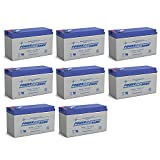 Power Sonic 12V 9AH Battery Replacement for SLA12-9F2-8 Pack