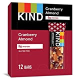 KIND Bars, Cranberry Almond + Antioxidants with Macadamia Nuts, Gluten Free, Low Sugar, 1.41 Ounce...