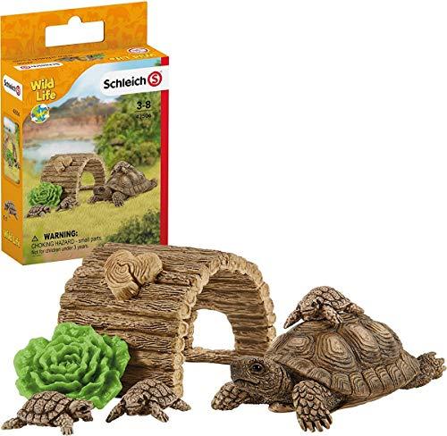 Schleich 42506 Wild Life Spielset - Zuhause für Schildkröten, Spielzeug ab 3 Jahren