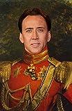 WonderClub Nicolas Cage Poster - Funny Celebrity Art - Faux