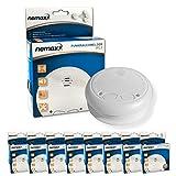 8X Nemaxx WL2 detectores de Humo inalámbricos - con DIN EN 14604