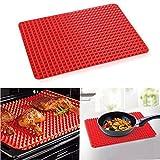 Erasky Silikon Backmatte / BBQ Grillmatte Hitzebest�ndig, Wiederverwendbar,