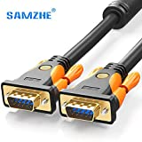 VGA Cable, VGA Male to Male Video Coaxial Monitor Cable with Ferrite Cores Gold Plated Compatible for...