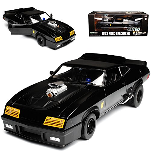 Greenlight Ford XB Falcon Tuned Version Mad Max II 2 Black Interceptor Schwarz 1973 1/18 Modell Auto