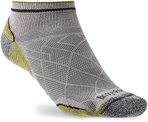 Bridgedale UL Coolmax Boot Performance Low Chaussettes Mixte, Gris/Vert, Taille Unique