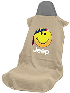 Seat Armour SA100JEPSFT Tan 'Jeep Smiley Face' Seat Protector Towel