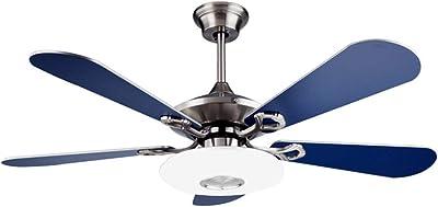 Dimmbar Mit Fernbedienung Einstellbare Windgeschwindigkeit Fan Ventilator LED Licht 80W Moderne Led Deckenlampe F/ür Schlafzimmer Wohnzimmer Esszimmer,Braun Brown Deckenventilator Mit Beleuchtung