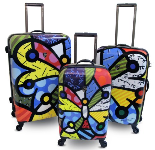 Read About Heys USA Britto Butterfly Hardside Luggage 3 pc Set