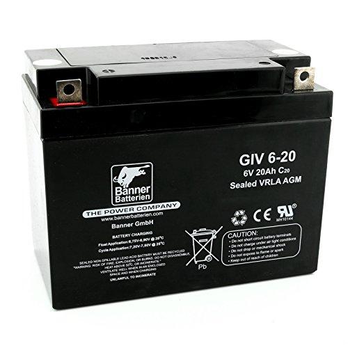 Banner Batterie Stand by Bull 6 Volt 20Ah Typ GiV 6-20 Akku Notstrombatterie Brandmeldeanlage Alarmanlage Aufzug