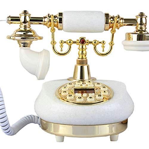 VERDELZ Vintage Handset Teléfono Fijo Teléfono Antiguo con Cable Teléfono Fijo Retro para el hogar