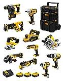 DeWALT Kit DWK1101 (DCD996 + DCH273 + DCG405 + DCF887 + DCF894 + DCS334 + DCS570 + DCS355 + DCP580 + DCS367 + DCL050 + 3 Batterie 5,0 Ah + Caricabatterie + Caddy 3en1)