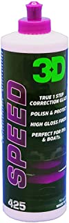 3D Speed All in One Polish/Wax - 32 oz. | Clear Coat Car Polish and Wax in One | Paint Protection, Swirl Correction | Made in USA | All Natural | No Harmful Chemicals