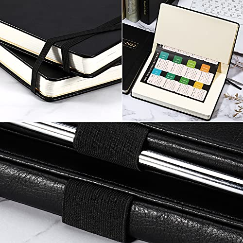 2019-2020 Planner - Academic Weekly, Monthly and Year Planner with Pen Loop, to Achieve Your Goals & Improve Productivity, Thick Paper, Inner Pocket, 5.75 x 8.25, Black