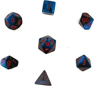 Chessex CHX26458 Dice-Gemini Black-Starlight/Red Set, Red/Black