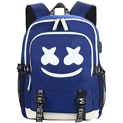 FYEKR - Zaino per computer portatile, impermeabile, per escursioni, viaggi, scuola, colore: blu