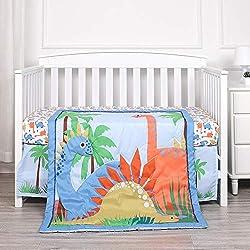 7. Kiddos Dinosaur Baby Crib Bedding 3 Piece Set