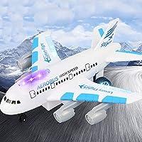 RC航空機旅客機民間航空電気玩具モデル電気シミュレーションリモートコントロール航空機航空旅客機 ( Color : White )